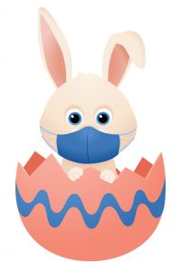 Easter Bunny with facemask